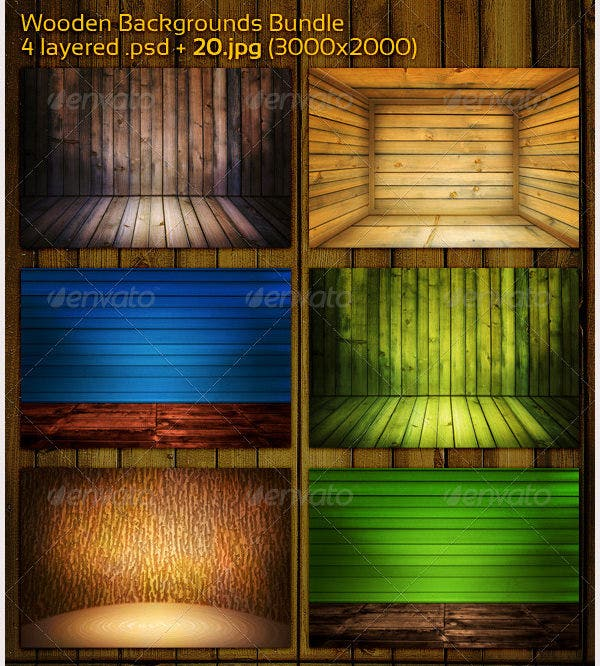 Wooden Backgrounds Bundle