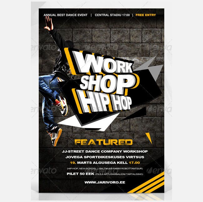 work shop hip hop poster