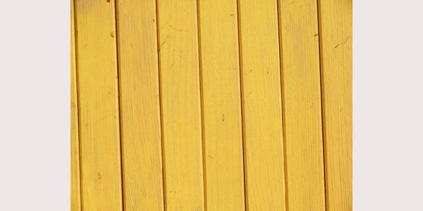 Yellow Wooden Fence Background
