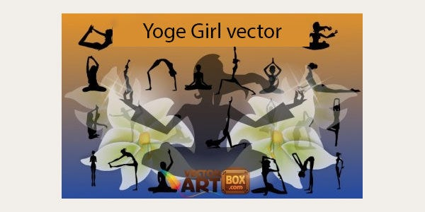 yoga girls silhouettes
