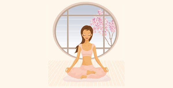 yoga girl vector1