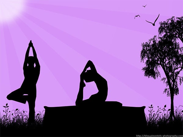 yoga in the morning wallpaper