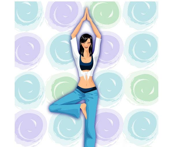 yoga leisure maintenance figure vector1