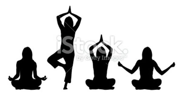 yoga positions woman illustration