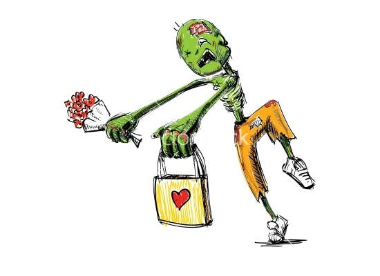zombie with flowers