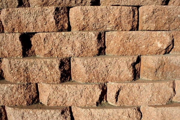brown brick retaining wall texture