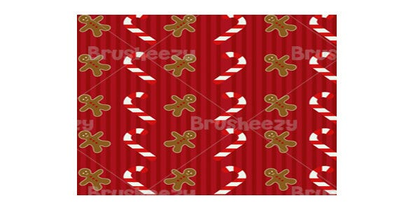 candy cane gingerbread photoshop pattern1
