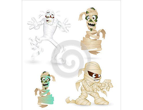 cartoon funny mummy characters
