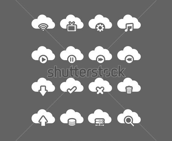 cloud computing icon set1