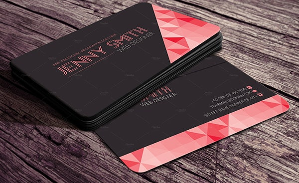 68 business cards for designers free premium templates web designer business card reheart Gallery