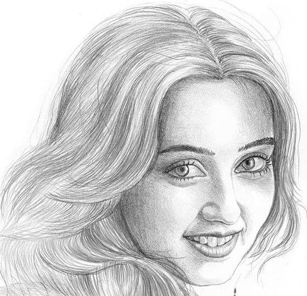 100+ Face Sketches - Pencil Sketches | Free & Premium ...