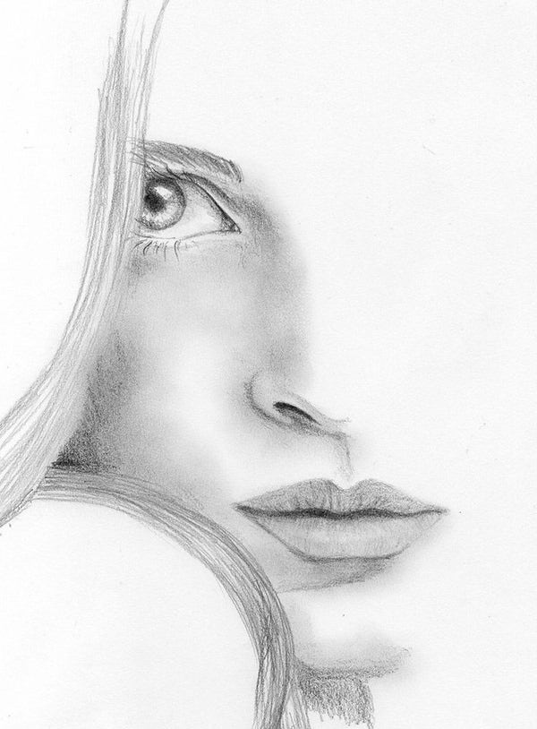 100 Face Sketches Pencil Sketches Free Premium Templates