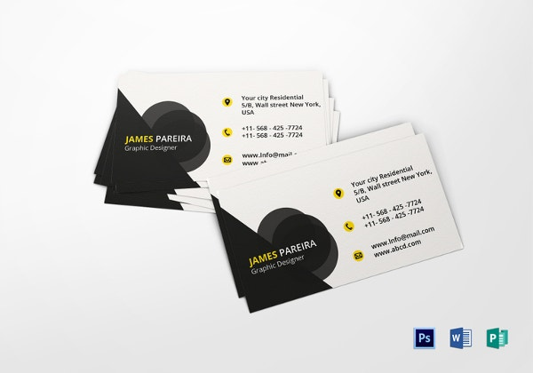 68 business cards for designers free premium templates graphic designer business card template in word publisher accmission Image collections
