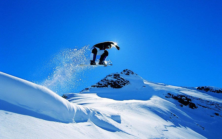 hd wallpaper snowboarding jump copy