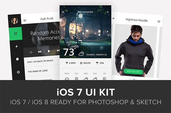 ios 7 app ui kit