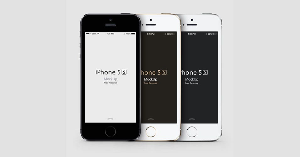 iPhone 5S Portrait MockUp