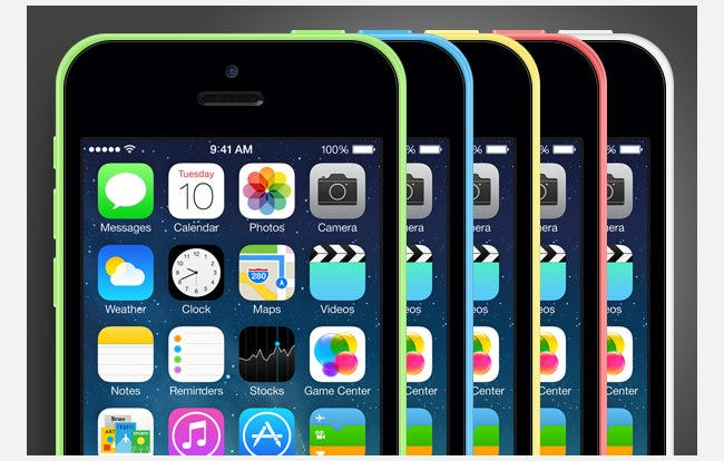 iphone 5c free psd mockup