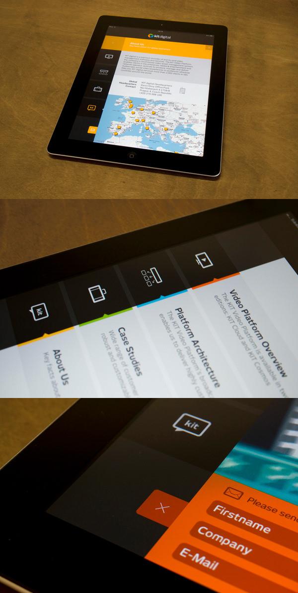 kit digital ipad app ui