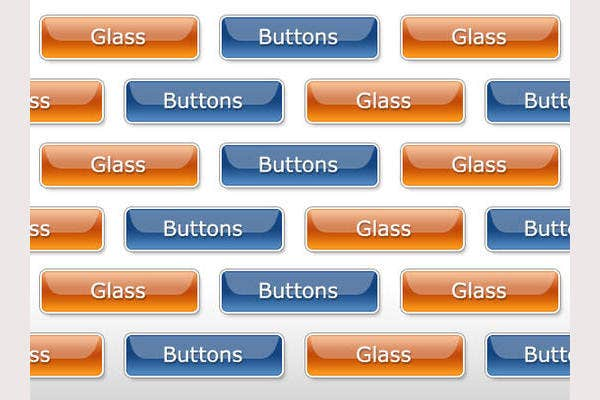 layered glass buttons freebie preview