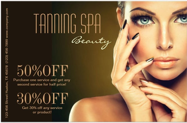 modern chic beauty SPA tanning salon Custom Flyer