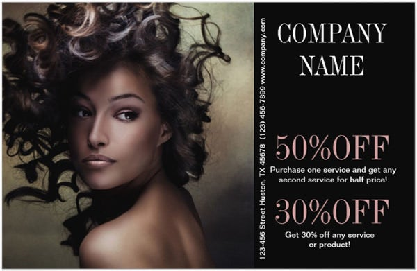Modern Chic Beauty Salon Hair Stylist Personalized Flyer