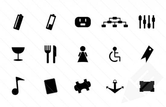 monochrome symbols icon