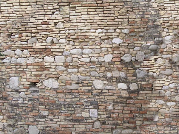 old medieval bricks wall textures