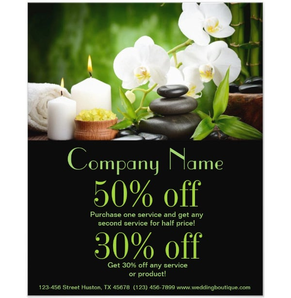 orchid SPA products beauty salon business Flyer