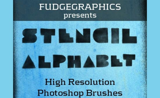 photoshop brushes stencil