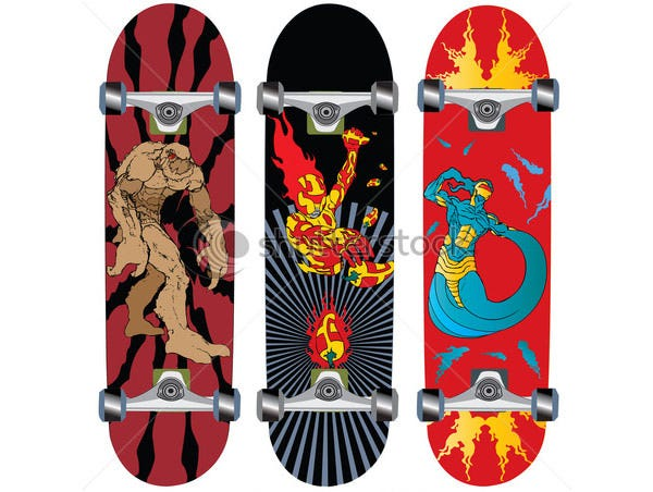 skateboard design with fire - Skateboard Design Ideas