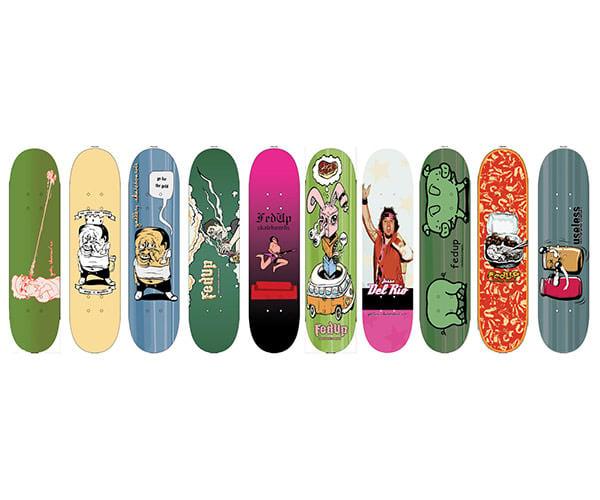 skateboard designs random