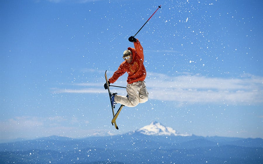 snowboarding jump snow
