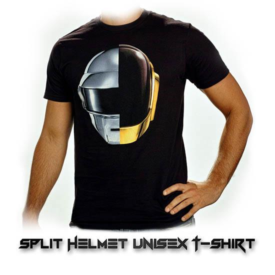 split helmet unisex t shirt