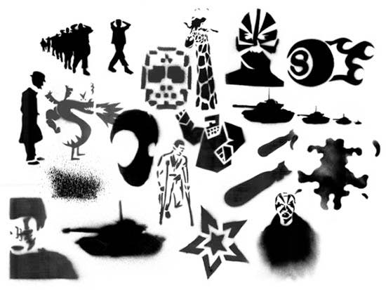 stencil brushes 2