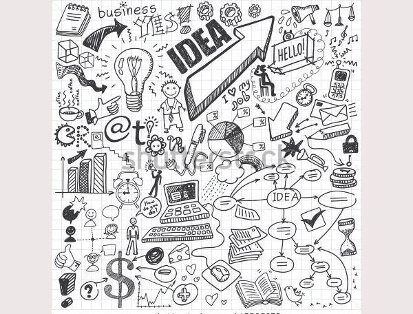 stock vector business doodles 145898270