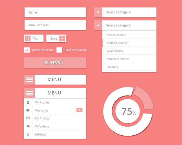 user interface design kit psd