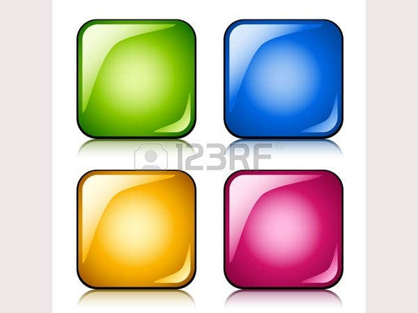 vector glossy buttons3