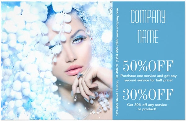 winter blue beauty salon stylist Photographer Custom Flyer