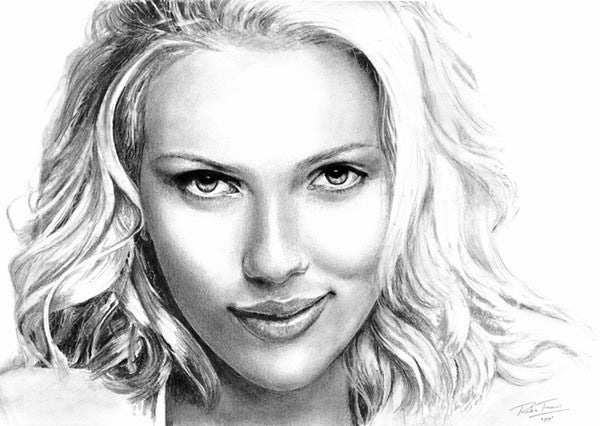 women scarlett johansson sketches celebrity monochrome artwork greyscale 4885x3474 wallpaper