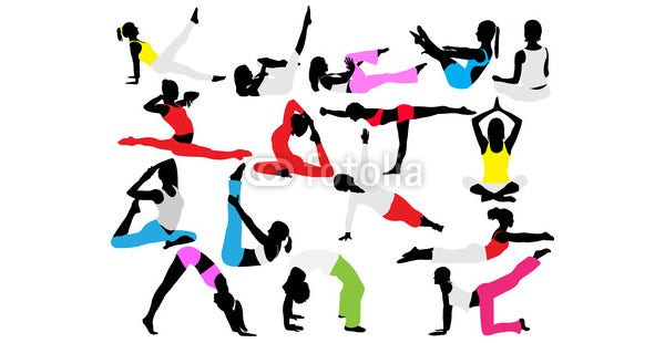 yoga and pilates vector