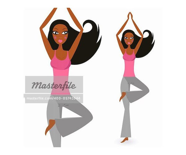 yoga exercise vector