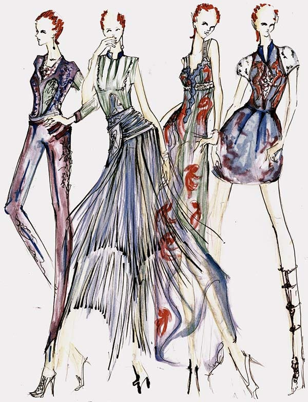 Fashion design drawing dress tumblr wallpaper