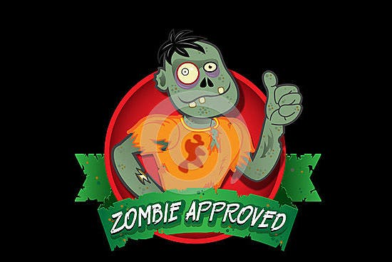 zombie approved seal image
