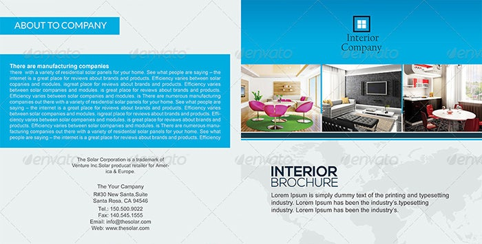 23 Interior Decoration Brochure Templates Free Word PSD PDF