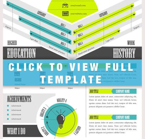 awesome infographic resume template