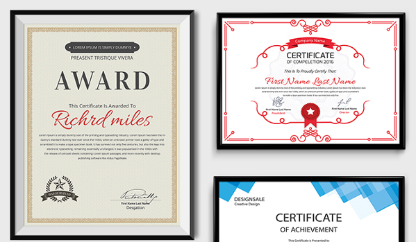 83 Creative Custom Certificate Word Psd Ai Design Templates