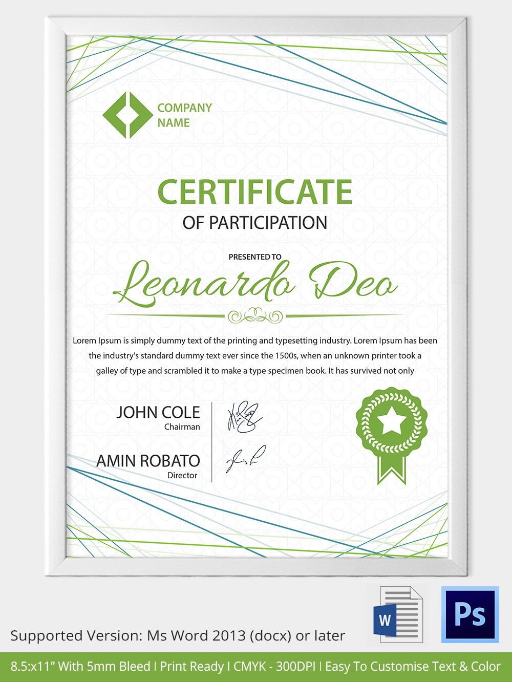 33 psd certificate templates free psd format download for Certification of participation free template