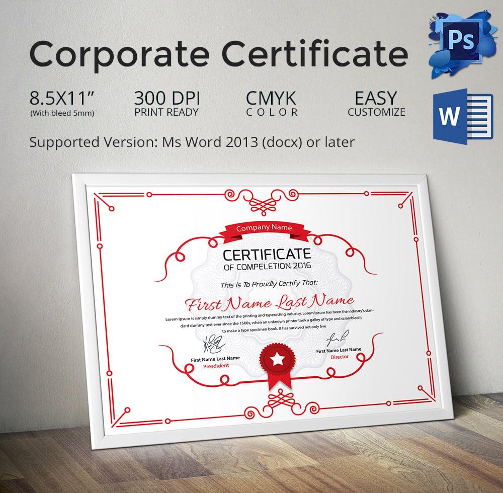 Certificate design templates datariouruguay yadclub Images