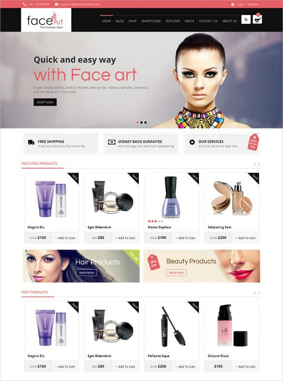 responsive beauty woocommerce theme