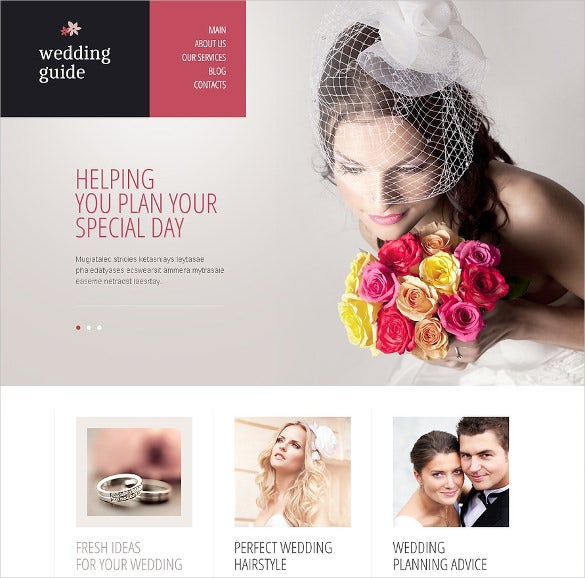 elegant wedding planner drupal template